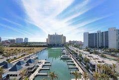 Marina. And luxury hotel high rises in Sarasota, Florida Royalty Free Stock Image