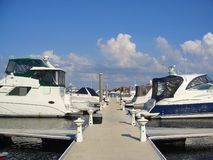 Marina. Filled with docked boats Stock Images