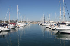 Marina. With boats in a sunny day Stock Image