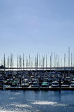 Marina. On a clear day Royalty Free Stock Photos