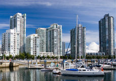 Marina. British Columbia. Downtown of Vancouver. Marina royalty free stock photography