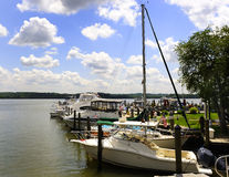 Marina. Boats docked at a marina in Potomac river, Alexandria Virginia U.S.A Stock Photo