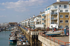 The marina. In brighton. south england Royalty Free Stock Images