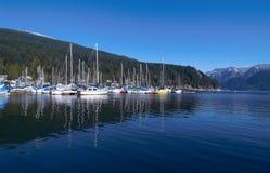Marina. Boat marina at Deep Cove Stock Images