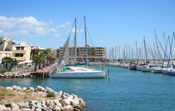 Marina in Port Barcares, France Stock Images