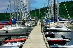 Marina. This is a marina on Prince Edward Island, Canada Stock Photos