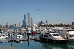 Marina in Abu Dhabi Royalty Free Stock Photo