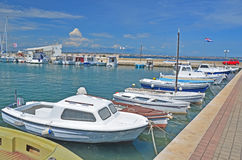 Marina on the Adriatic Coast Royalty Free Stock Images
