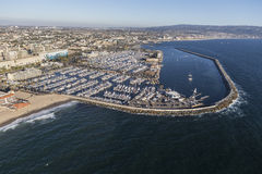 Marina Aerial View Redondo Beach California Royalty Free Stock Photography