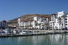 Marina of Agadir - Morocco. View on the new modern marina of Agadir in Morocco Stock Image