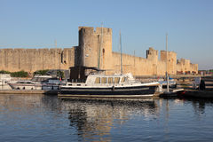 Marina in Aigues-Mortes, France Royalty Free Stock Photos