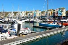 Marina of Albufeira, Algarve, Portugal stock image
