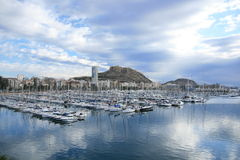Marina Alicante. View of the Alicante port and Marina International royalty free stock images