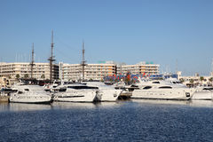 Marina of Alicante, Spain Royalty Free Stock Photos