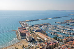 Marina of Alicante (Spain) Royalty Free Stock Images