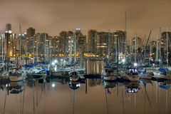 Marina along Stanley Park in Vancouver BC Royalty Free Stock Photos