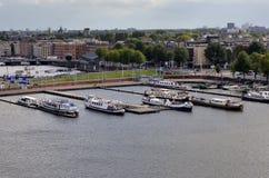Marina in Amsterdam Royalty Free Stock Photography