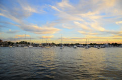 Marina Annapolis. A stellar sunset  over a marina in the nations sailing capitol, Annapolis MD Stock Images