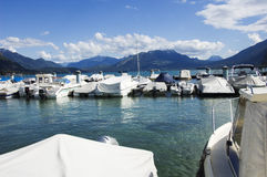 Marina and Annecy lake Stock Photography