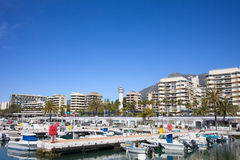 Marina and Apartment Buildings in Marbella Royalty Free Stock Image