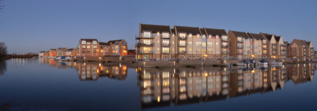 Marina Apartments and Houses Eynesbury. St Neots Stock Image