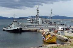 Marina Argentina della base militare in Ushuaia Fotografie Stock