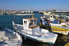 Marina in Artemis harbor, Greece Stock Image
