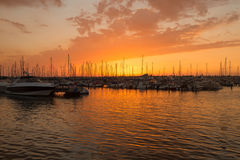 The Marina Ashkelon on sunset, Israel Stock Image