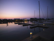 Marina At Dusk. Royalty Free Stock Image