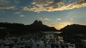Marina. Atardecer mexico sonora bahia muelle yates club Royalty Free Stock Photography