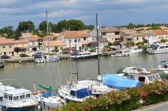 Marina av Aigues-Mortes Royaltyfri Bild