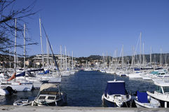 Marina of Bandol on french riviera, france Stock Images