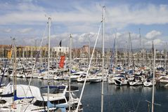 Marina at Barcelona. Spain Stock Photos