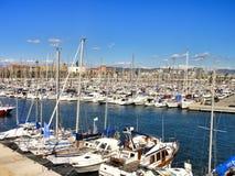 Marina at Barcelona. Spain Royalty Free Stock Photo