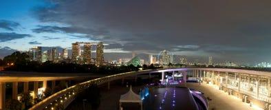 Marina Barrage and Cityscape Stock Image