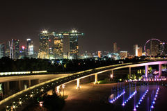 Marina barrage. Night view shot at Marina barrage,Marina Way, Singapore royalty free stock images