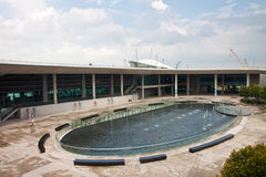 Marina Barrage Pump House Stock Photo