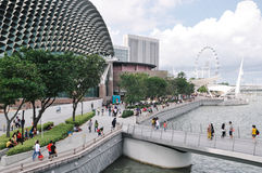 Marina Bay-Bereich Singapur Stockfotografie
