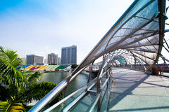 Marina Bay business district on Singapore. Royalty Free Stock Images