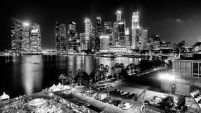 Marina Bay Businiess District Fotografia Stock