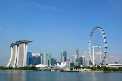 Marina Bay Cityscape 2 Stockfotos