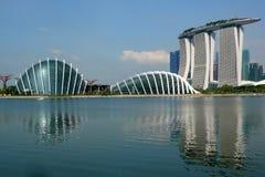 Marina Bay Cityscape 4 stockbilder