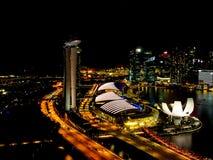 Marina Bay da parte superior Imagem de Stock Royalty Free