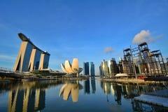 Marina Bay in der Tageszeit, Singapur Stockbilder