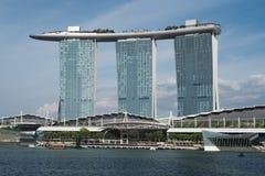 Marina Bay det mest lyxiga tornet i Singapore Royaltyfria Bilder