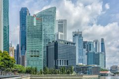 Marina bay district stock images