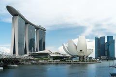 Marina Bay em Singapura fotografia de stock