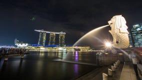 Marina Bay em Singapura imagem de stock