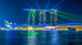 Marina Bay en Singapur imagen de archivo libre de regalías