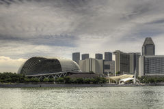 Marina Bay Esplanade Cityscape Royalty Free Stock Photo